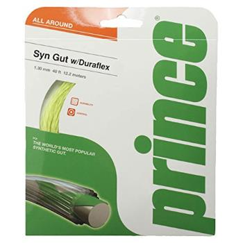 Prince Synthetic Gut with Duraflex 16g White Tennis String